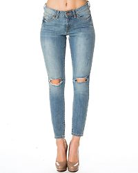 Lucy NW Hole Jeans Light Blue Denim