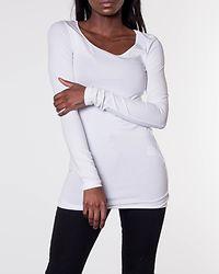 Maxi My LS Soft Long U-Neck Bright White