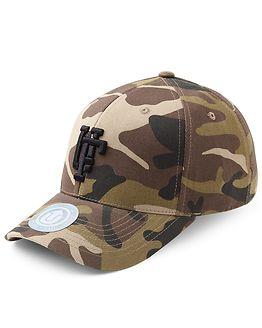 Spinback Baseball Cap Camo/Black