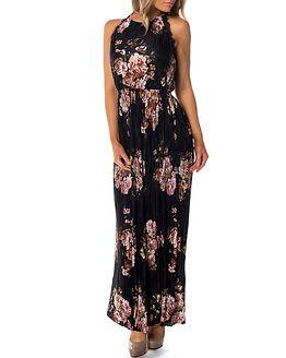 Maxi Dress Black/Bloomia