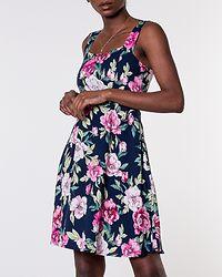 Star Strap Dress Navy Blazer/Pink Hibis