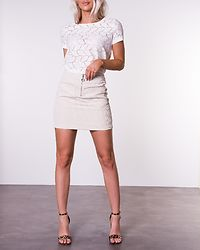 Tag Tee Lace Top Cloud Dancer