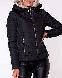 Shelly Hooded Short Jacket Black