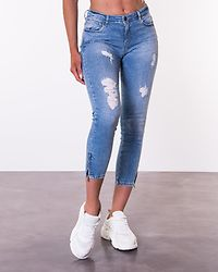 Kimmy Ankle Zip Jeans Light Blue Denim