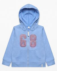 68 Hoodie Zip Light Heather Blue