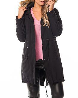 Trust Long Parka Jacket Black