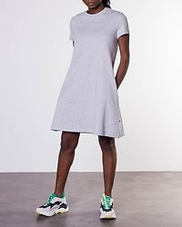 Lucky Pocket Dress Light Grey Melange