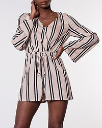 Dakota Playsuit Beige/White/Black