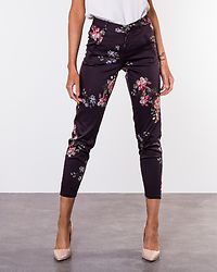 Victoria Antifit Print Ankle Pant Navy Blazer/Flowers