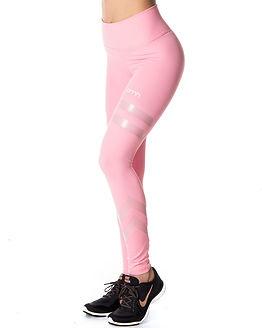 Dusty Pink Stripe Tights
