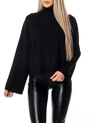 Ship Roll Neck Knit Black