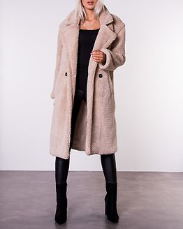 Chelsea Long Line Teddy Borg Jacket Stone