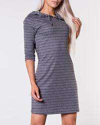 Irina Hood Dress Medium Grey Melange/Black