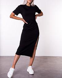 Front Slit T-shirt Dress Black