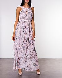Nola Maxi Layer Dress Rose Smoke/Flower
