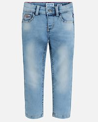 Knitted Denim Trousers Light Blue