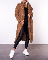 Caramel Long Teddy Coat