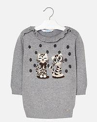 Knit Dress Silver Grey