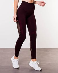 Seamless High Waist Tights Burgundy Melange