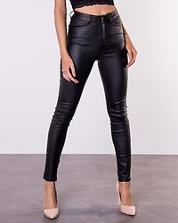 Bianca Coated Jeans Black