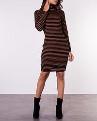 Drian Midi Roll Neck Dress Black/Brown