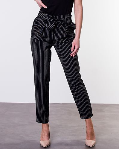 Micol Paperbag Pinstripe Pants Black. 38. Only 1882730abf07d