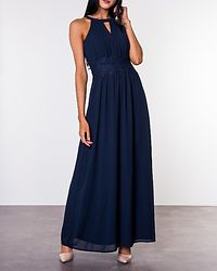 Milina Halterneck Maxi Dress Total Eclipse