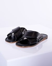 Audrey Leather Sandal Black