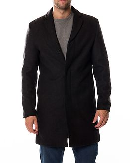 Brove Wool Coat Dark Grey Melange