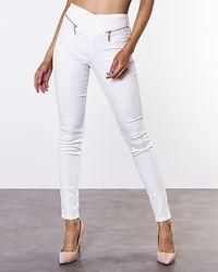 Hot Geller Slim Zip Pants Snow White