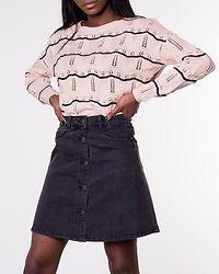 Cactus Stripe Pullover Rose Smoke/Black Stripe