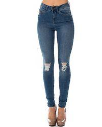 Lexi Destroy Jeans Light Blue Denim