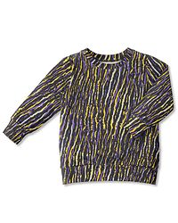 College RIA / Africa Stripes Lilac-Yellow