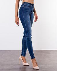 Paola Highwaist Jeans Medium Blue Denim