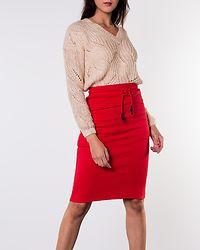 Isadora High Waist Pencil Skirt Racing Red