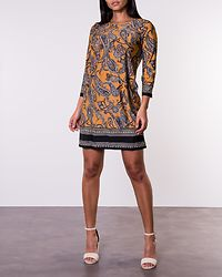Blenda Dress Dark Yellow/Paisley
