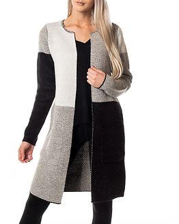 Nina Long Knit Cardigan Light Grey Melange