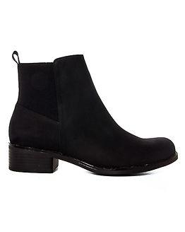 Back Elastic Chelsea Ankle Boots Black