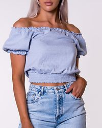 Leaf Cropped Smock Top Kentucky Blue