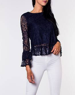 Louisa Sleeve Lace Top Night Sky