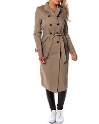 Jenny Long Trenchcoat Taupe Gray