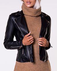 Cara Coated Jacket Black