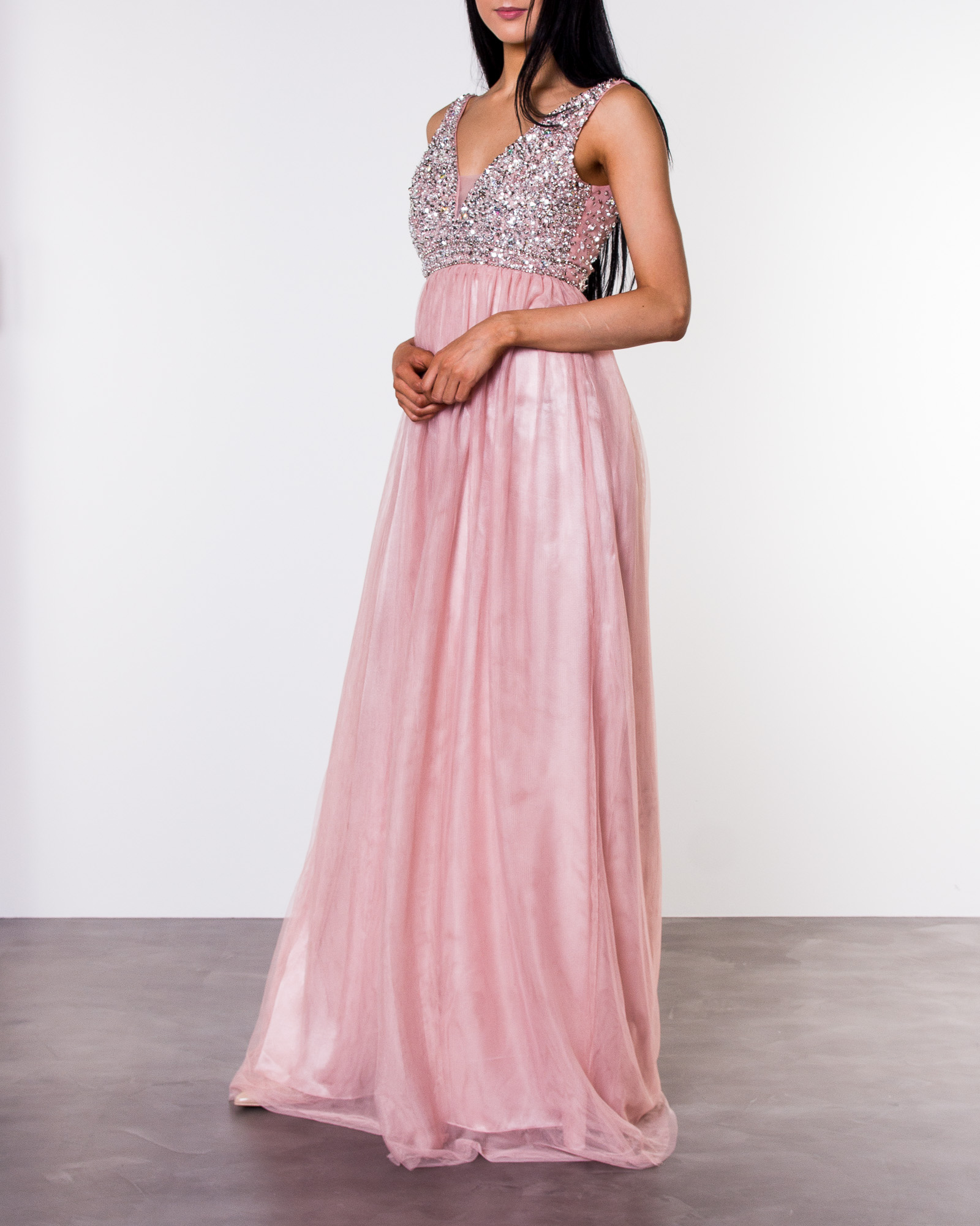 Bubbleroom, Ivory Embellished Prom Dress Light Pink | ALE