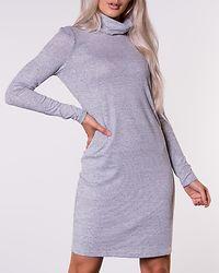 Malena Rollneck Short Dress Light Grey Melange
