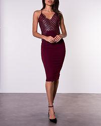 Lorna Sequin Top Midi Dress Wine
