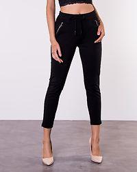 Eva Mr Loose String Zip Pant Black