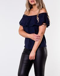 Kaya Offshoulder Lace Top Navy Blazer