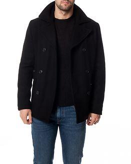 Merce Wool Peacoat Black/Structure