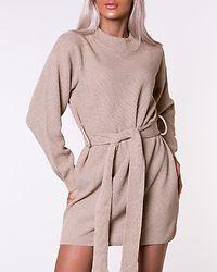 Long Sleeve Dress Flagstone/Ecru/Beige
