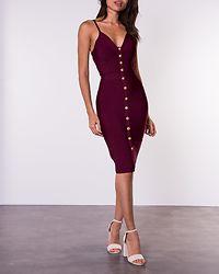 Serena Button Detail Bandage Dress Berry